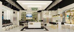 Luxury Nail Salon, Nail Salon Design, Best Nail Salon, Luxury Nails, Kiosk Store, Mall Kiosk, Spa Pedicure, Makeup Salon, Inside Outside