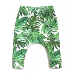 Harem pants for baby toddler w/ botanical / tropical banana leaves Banana Costume, Organic Baby Clothes, Disney Costumes, Toddler Girl Outfits, Boutique Clothing, Etsy Seller, Trending Outfits, Prints, Handmade