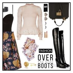 """""""Over the knee boots"""" by lizart ❤ liked on Polyvore featuring Dolce&Gabbana, Prism, Topshop, Ralph Lauren Collection, Alexander McQueen, Givenchy, Wildfox, shu uemura, New Look and Charlotte Tilbury"""