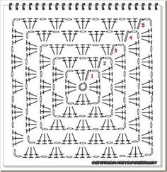 Crochet Square Pattern Tutoriel Carré Old America en crochet / Granny square tutorial. Tutorial in French and English by Stefanina´s Dream. Crochet Motif Patterns, Granny Square Crochet Pattern, Crochet Diagram, Crochet Chart, Crochet Squares, Crochet Stitches, Crochet Diy, Crochet Afgans, Crochet Ideas