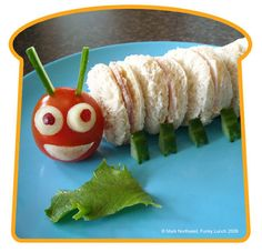 Be careful, this caterpillar may crawl away right before your eyes! (Mark Northeast/Funky Lunch) Personally, I'm a little long in the tooth to want to spend this much time making cute sandwiches, but for somebody with young, picky eaters to feed, there are some adorable sandwich ideas here.