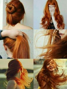 Ginger, girl, hair, beautiful