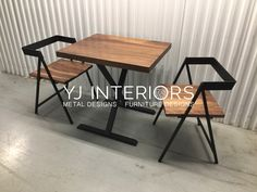 X Frame Bistro Restaurant Table with Black Walnut Ash Maple .- X Frame Bistro Restaurant Table with Black Walnut Ash Maple Steel Furniture, Rustic Furniture, Furniture Sets, Furniture Design, Upcycled Furniture, Furniture Makeover, Vintage Furniture, Bedroom Furniture, Bistro Restaurant