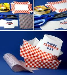 DIY Paper Fodo Trays are great for snakcs and parties. Grab the ...