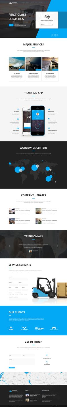 Shipping – Logistics & Transport PSD Template - PSD Templates | ThemeForest