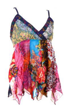 Top hippie patchwork con tirantes regulables. Colores orietativos,... [TOHC13]