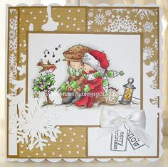 Good Morning Everyone, Sorry for my lack of visits but I have been busy making candles and cards to sell on my stall. I have a stall this . Christmas Animals, Christmas Quotes, All Things Christmas, Christmas Crafts, Christmas Decorations, Xmas Cards To Make, Xmas Songs, Candy Cards, 3d Cards