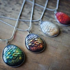 Game of Thrones Dragon Egg Pendant Necklace // Im not even in this fandom, and these are awesome.