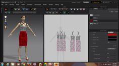 Váy hai dây thiết kế trên phần mềm thời trang 3D tại Hải Phòng