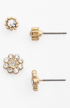 crystal flower stud earrings / nordstrom