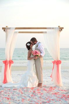 How to Plan a Beach Weddings in an Affordable Way.  | Read more: http://simpleweddingstuff.blogspot.com/2015/03/how-to-plan-beach-weddings-in.html