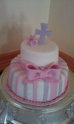Baby girl christening cake :)