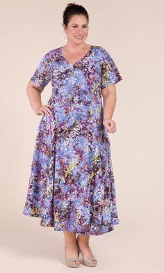 CORNFLOWER DRESS / MiB Plus Size Fashion for Women / Fall Fashion / Plus Size Dress / Hand Painted Fabric