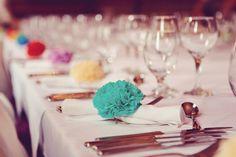 Decora tu boda con pompones