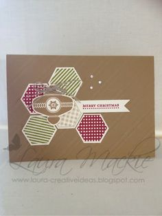 Stampin Up! Ideas & Supplies. Versatile design. Change the colors and ornament to fit any occasion.