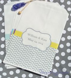 Chevron Favors by abbeyandizziedesigns on Etsy, $27.00