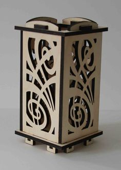 Laser Cut Wood Luminarie Tealight Lamp  Celebration by ellenstarr, $39.00