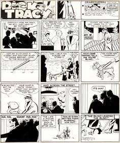 Chester Gould Dick Tracy Sunday Comic Strip Original Art dated | Lot #12062 | Heritage Auctions