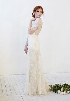 beautiful lace gown | Kristi Bonnici wedding dresses | www.onefabday.com
