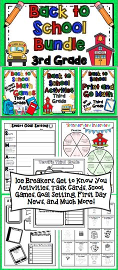 Back to School Activities BUNDLE (3rd Grade) Start the beginning of the year off…