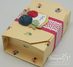 Stampin' Up! Stamping T! - Gingham Garden Folded Gift Box