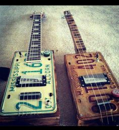 Check it out!  Hybrid cigar box guitars.  We have the parts for building them!