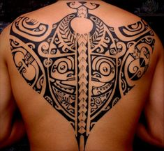 tattoo polynesian | Polynesian Tiki Tattoos On Men Upperback