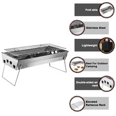 This tabletop charcoal grill is best for yakitori lovers. Such as, everyone who loves grilling can spend some time with their family or loves one with the grates cooking on this charcoal grill. #bbq_sauce #bbq_sauce_homemade_easy #bbq_sauce_homemade_for_ribs #bbq_sauce_homemade_for_pulled_pork #bbq_sauce_homemade_chicken #bbq_sauce_homemade_easy_quick #bbq_sauce_homemade_easy_ketchup #bbq_sauce_homemade_for_ribs_easy #bbq_recips #bbq_recips_grill Grill Barbecue, Grilling, Japanese Bbq Grill, Bbq Food For A Crowd, Bbq Recipes Sides, Camping Bbq, Portable Grill, Foil Packets, Bbq Ideas