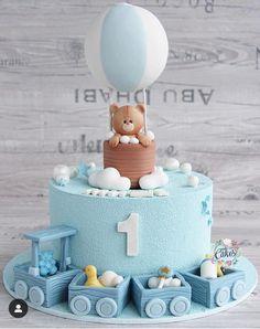 Best 12 Baby Shower by Lori Mahoney (Lori's Custom Cakes) – SkillOfKing. Cake 1 Year Boy, 1 Year Old Birthday Cake, Half Birthday Cakes, Boys First Birthday Cake, Baby Shower Cakes For Boys, Baby Boy Cakes, Girl Cakes, Food, Daisy Cakes