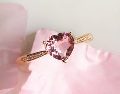verlobungsring etsy Heart pink morganite Engagement Rose gold,diamond Wedding Band,simple design,Ring Show Tourmaline,Emerald Topaz Birthstone by milegem on Etsy Wedding Rings Rose Gold, Gold Diamond Wedding Band, Wedding Bands, Diamond Rings, Rose Wedding, Topaz Birthstone, Morganite Engagement, Morganite Ring, Solitaire Engagement