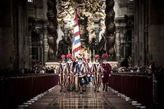 "Sometimes referred to as ""smallest army in the world"" the Papal Guards are most popular among photographers (Fabio Mantegna) Swiss Guard, Vatican City, Famous Places, Countries Of The World, Religion, Street View, Photographers, King, Popular"