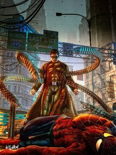 Doctor Octopus / Spiderman by Isikol