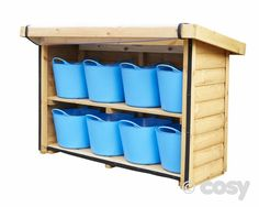 EPHGRAVE'S TUB SHELVES (STATIC) - WITHOUT COVER - Sheds and Outdoor Storage - Early Years - Cosy Direct