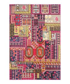 Loving this Pink Nesrin Rug on #zulily! #zulilyfinds