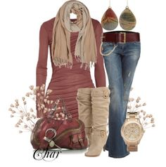 If you love wearing jeans but hate when it comes to dressing up! All you have to do is find a old scarf fold how you want to, a solid colored plain shirt, a nice hand bag, and some flats with maybe a little bow or flower on it!!! Your set to go!!