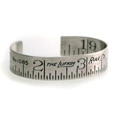 "I have cast a vintage ruler to make this simple, striking cuff bracelet.  It is great for men and women.  When in doubt about your size, just send me your wrist measurement and I will do the rest.1/2"" (13mm) wide"