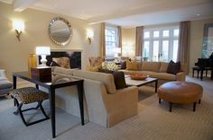 Formal Living Room | Sorority House Remodel home project from Kristine Donovick Interior