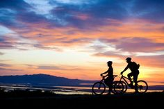let's bike off into the sunset together
