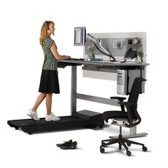 Treadmill Desk. And they told you a promotion from the mail room as a good thing.