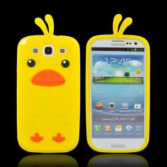 Samsung Galaxy S3 Silicone Case - Yellow Duck. Comes in a bunch of different colors! $9.99