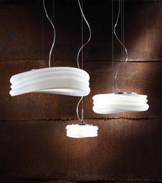 Lámpara colgante grande MEDITERRANEO cromo/cristal opal 3 luces
