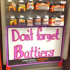 Saw this at Home Depot! Too funny!