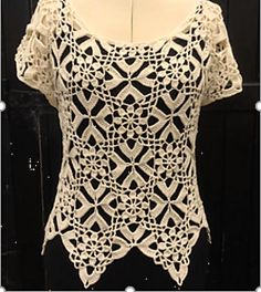 Magnolia is a pretty, short-sleeved lace top which is composed of beautiful flower motifs. These are joined as-you-go to form an intricate lace fabric. Lace Ball Gowns, Lace Evening Dresses, Rustic Fabric, Lace Fabric, Crochet Blouse, Crochet Top, Dashiki Prom Dress, Dress Luxury, Lace Tops