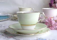 vintage Colclough bone chine tea set