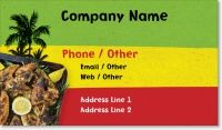caribbean caribbean restaurant Standard Business Cards