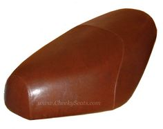 Distressed Faux Leather Brown Buddy Seat Cover Waterproof | Cheeky Seats Scooter Seat Covers