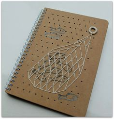 Notebook embroidery, stamp carving