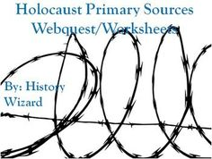 This activity includes six primary documents worksheets on the Holocaust. The websites used are from a great primary source site, the Eye Witness to History site. http://www.eyewitnesstohistory.com/index.html  The following topics are covered in the primary document readings: Adolf Hitler Attempts a Coup 1923 Hitler Comes to Power: Reichstag Fire 1933 Nazi Occupation of Poland Worksheet Inside a Nazi Death Camp, 1944 Worksheet Dachau Primary Source American GI Worksheet Nuremberg War Trials…
