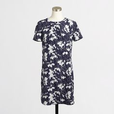 Factory silky floral shift dress : AllProducts | J.Crew Factory