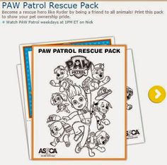 Get a PAW Patrol Halloween Coloring